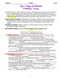 myWorld Interactive World History Topic 1 Study Guide, Vocabulary Crossword, Map