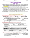 myWorld Interactive World History Topic 16 Study Guide, 2 Vocab Crosswords, Map