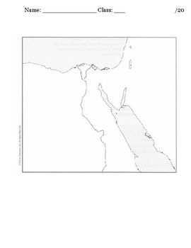 myWorld Interactive World History Topic 3 Map: Ancient Egypt