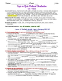myWorld Interactive World History Topic 9 Study Guide, Vocabulary Crossword, Map