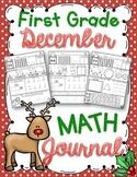 1st Grade December Math Journal