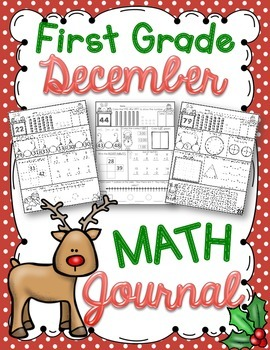 1st Grade December Math Journal