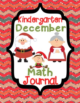 Kindergarten December Math Journal - Common Core