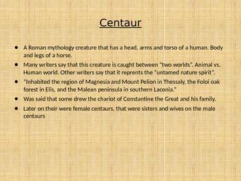 mythological creature powerpoint