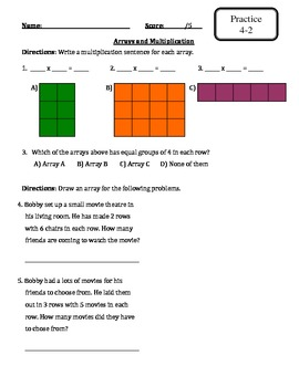 Envision Math - Topic 4 - Multiplication - Extra Materials -3rd Grade