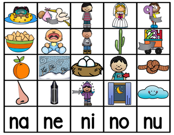 Na Ne Ni No Nu 2903395 on Kindergarten Bilingual Worksheets