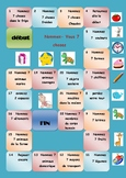 French  vocabulary board game (name 7 things)