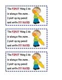 name writing poem card