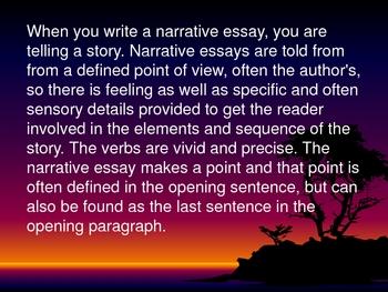 narrative writing presentation