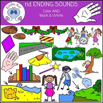 nd Ending Sounds Clip Art