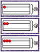 near halves subtraction rekenrek cards