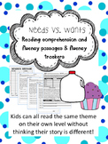 needs and wants fluency and comprehension leveled passages
