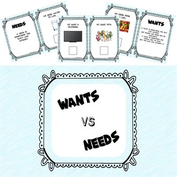 wants, needs, goods, and services BUNDLE
