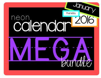 neon calendar bundle