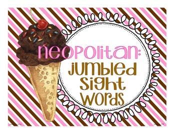 neopolitan: 3 jumbled sight word centers