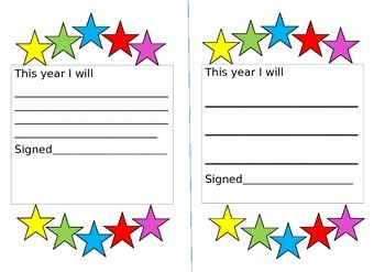 new school year target sheets