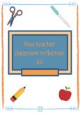 new teacher reflection kit
