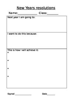 new years resolution plan