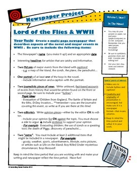 World War II and Lord of the Flies newspaper project