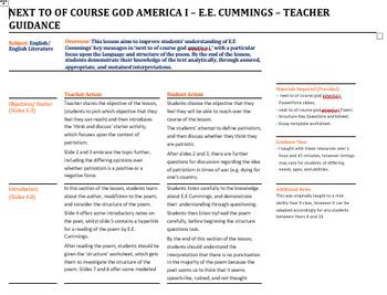 next to of course god america i - E.E. Cummings