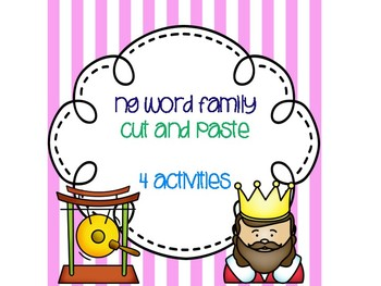 ng Word Family Cut and Paste