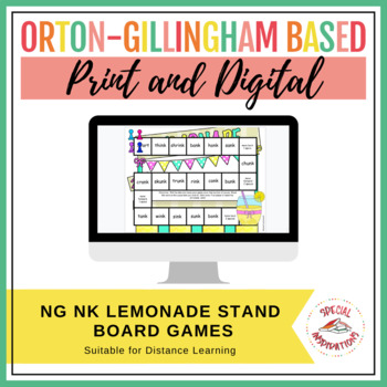 ng and nk Welded Sounds Board Game and Sort (Lemonade Stand Theme)