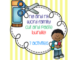 ng and nk Word Family Cut and Paste Bundle! {7 activities}