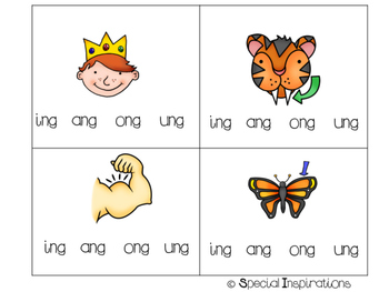 ng and nk Word Family Literacy Center Flip Book
