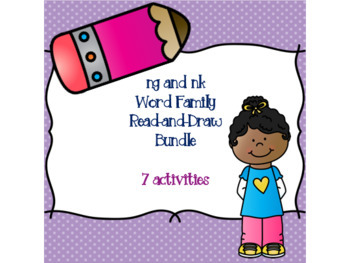 ng and nk Word Family Read-and-Draw Bundle {7 activities}