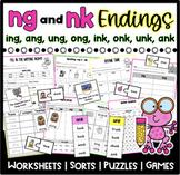 ng & nk Ending Worksheets & Sorts  Word Families  ing, ong, ang, ink, ank, onk