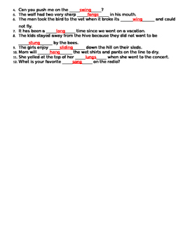 ng worksheet