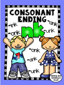 nk Consonant Ending - No Prep! -nk Word Work