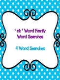 nk Word Family Word Searches! {3 word searches}