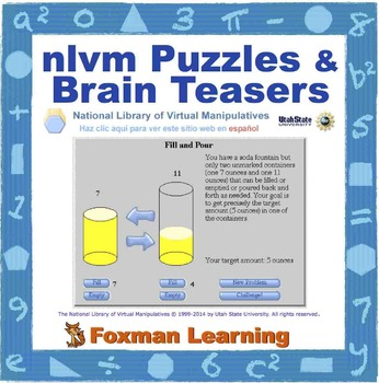 nlvm Interactivities -- Math Puzzles & Brain Teasers--Common Core Middle School