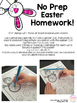 no Prep Easter Articulation Homework