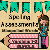no prep commonly misspelled words ASSESSMENTS {BUNDLED}