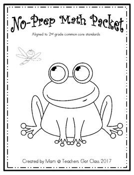 no-prep math packet #1
