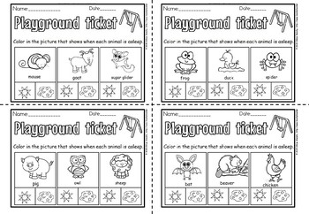nocturnal exit tickets(free sample)
