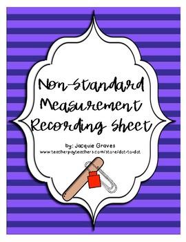 non-standard measurement recording sheet