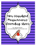 non-standard measurement recording sheet