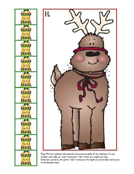 non-standard measurement: reindeer and christmas trees