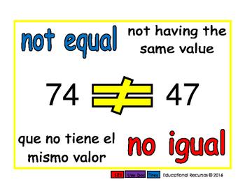 not equal/no igual prim 1-way blue/rojo