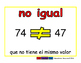 not equal/no igual prim 2-way blue/rojo