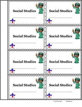 notebook or folder name tags