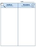 notice and wonder worksheet