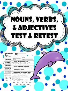 noun, adjective, and verb test and retest