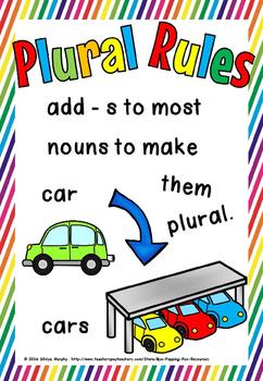 noun plural posters