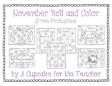 November Roll and Color {Free Printables}