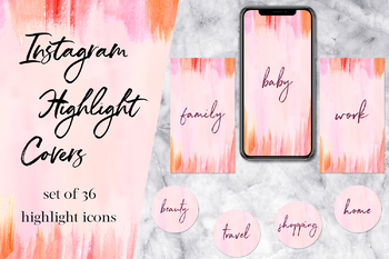 Instagram Story Highlight Icons, Set of 36 Instagram Story Covers