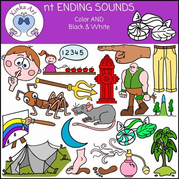 nt Ending Sounds Clip Art